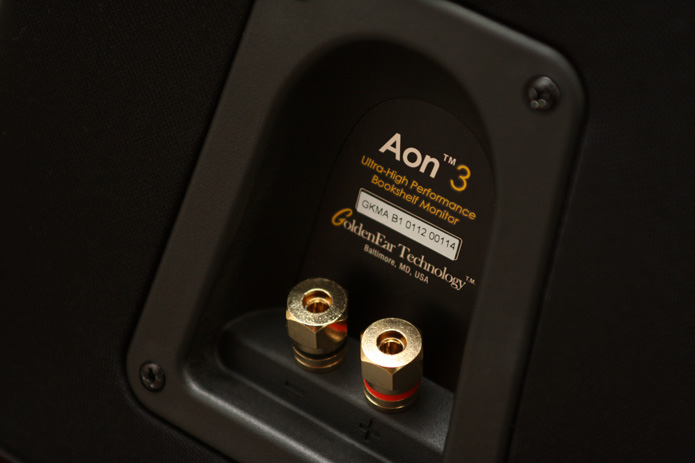 GoldenEar Aon 3 rear panel